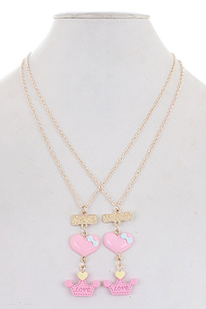 2-pc Best Friend Necklace Set - orangeshine.com