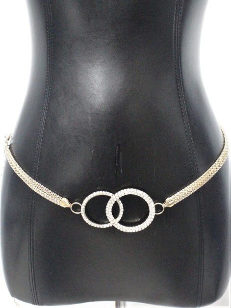 Double circle METAL CHAIN BELT - orangeshine.com
