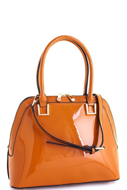 Glossy Princess Domed Satchel  - orangeshine.com