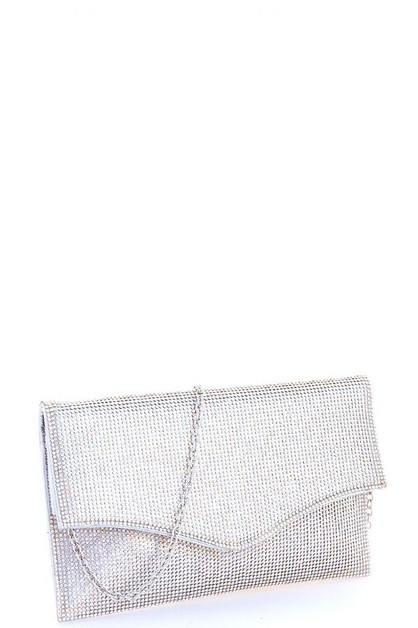 Rhinestone Dotty Envelope Clutch  - orangeshine.com