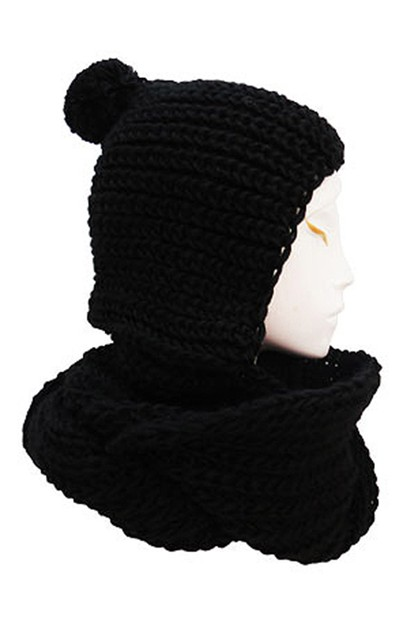 Hooded Knitted Scarves - orangeshine.com