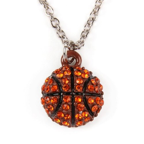 BASKETBALL PENDANT CHARM NECKLACE - orangeshine.com