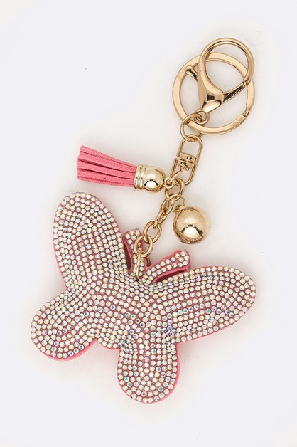 Pink Butterfly Iconic Key Chain - orangeshine.com