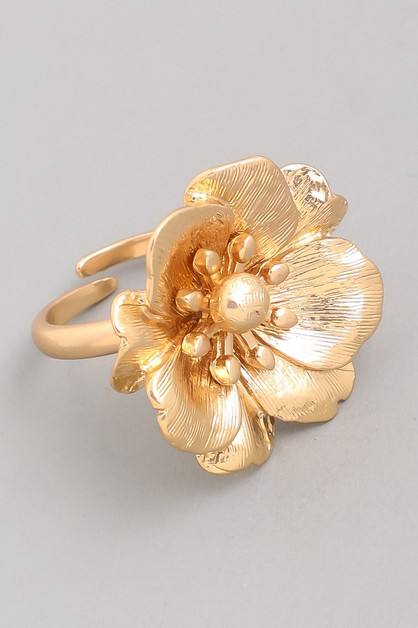 Large Metal Flower Ring - orangeshine.com