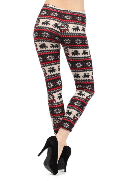 PLUS SIZE Winter Holiday Legging - orangeshine.com