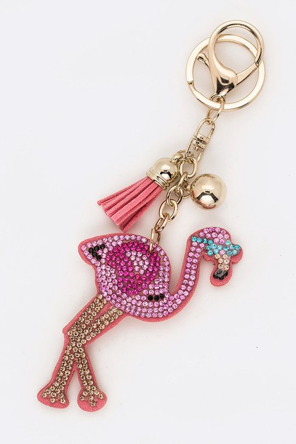 Crystal Flamingo Key Chain - orangeshine.com