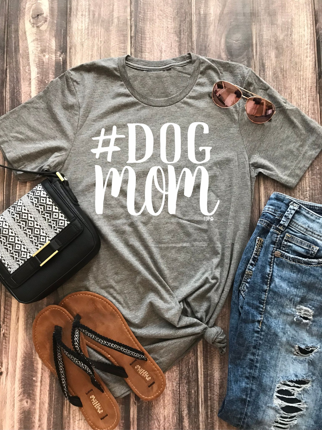 Dog Mom Graphic Tee - orangeshine.com