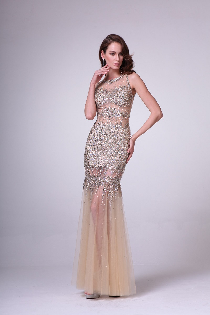 Beaded Novelty Gown - orangeshine.com