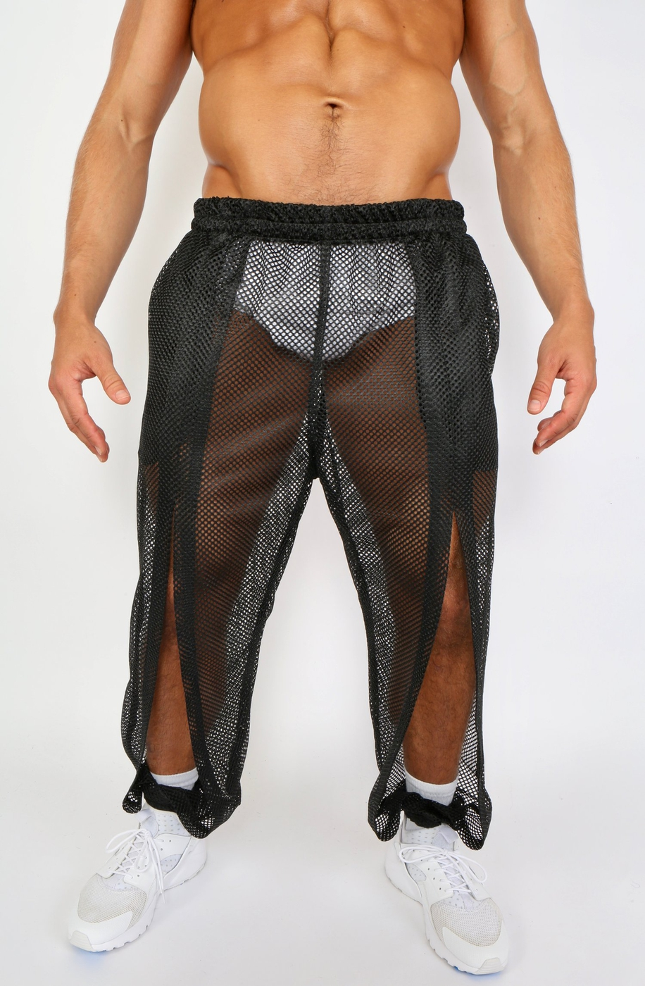 SPLIT PANT- BLACK - orangeshine.com