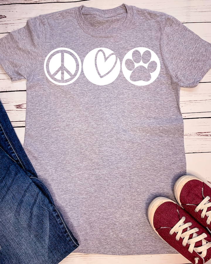 Peace Love Paw Print - orangeshine.com