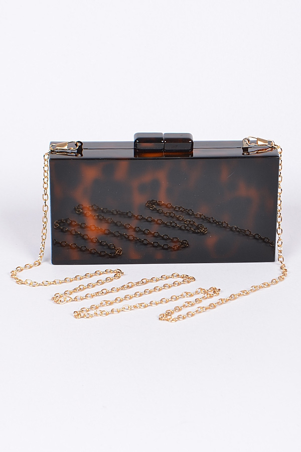 Rectangular Acrylic Clutch - orangeshine.com