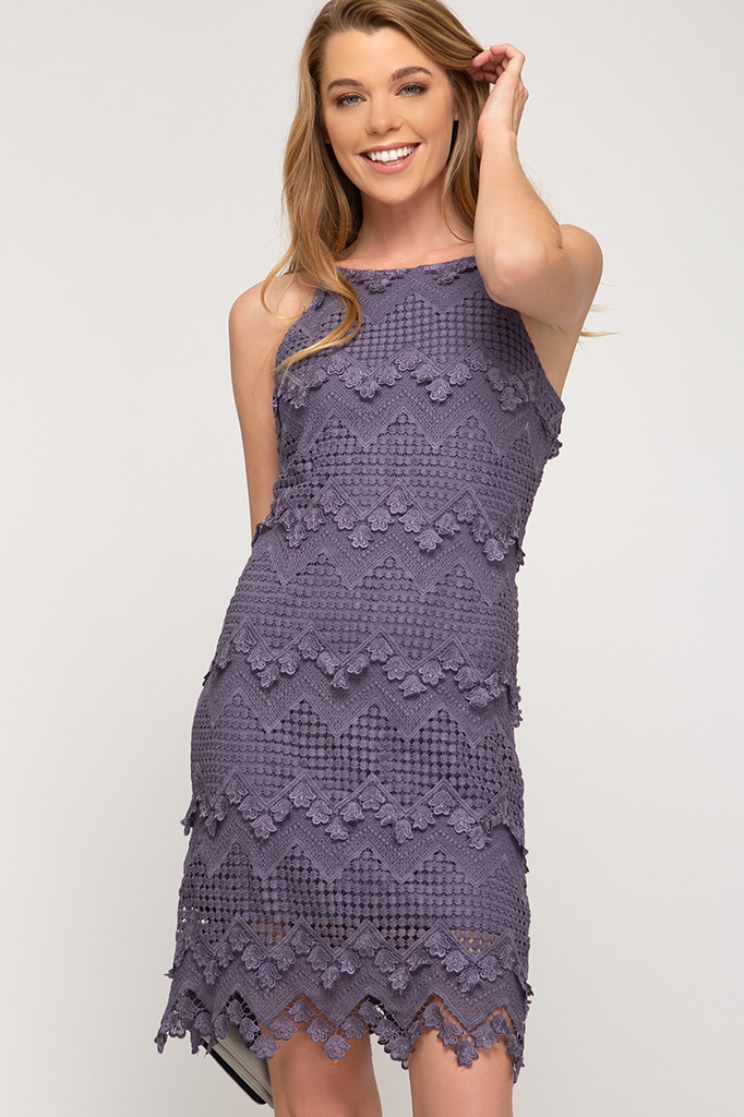 CROCHET LACE CAMI DRESS - orangeshine.com
