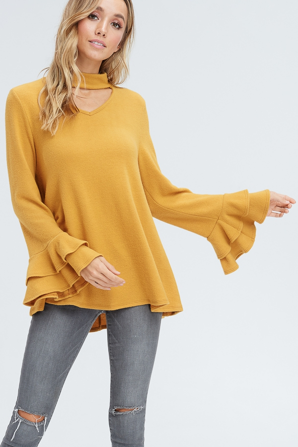 Long-sleeve blouse - orangeshine.com