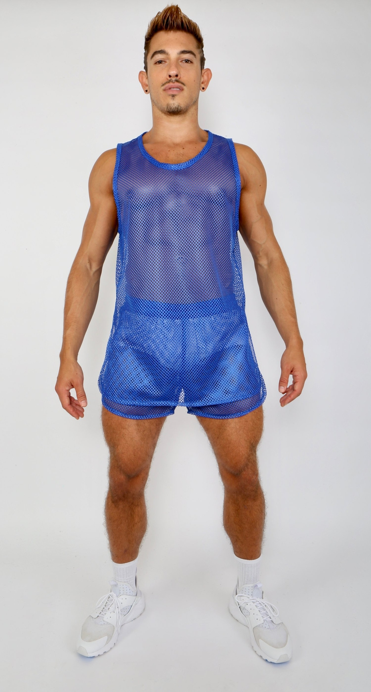 GYM TANK - BLUE - orangeshine.com