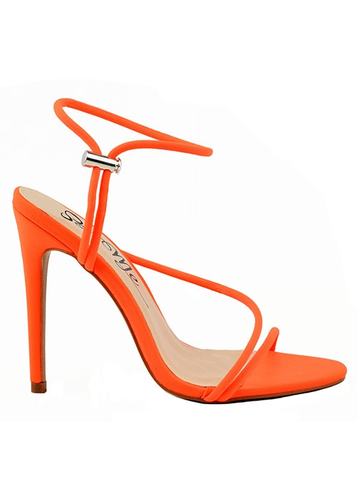 OPEN TOE HIGH HEEL WITH ANKLE STRAP - orangeshine.com
