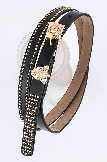 Leopard Buckle Belt - orangeshine.com