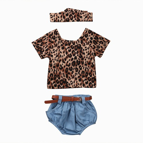4PC Backless leopard top with shorts - orangeshine.com