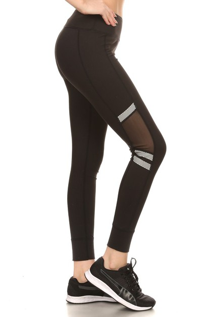 Mesh Sports Leggings Yoga Pants  - orangeshine.com