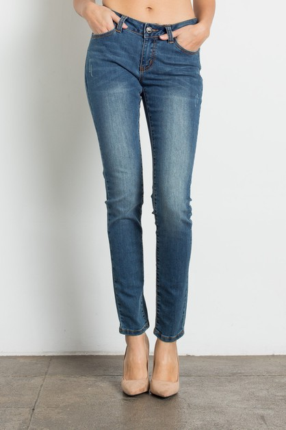 WOMENS MID RISE WASHED JEANS - orangeshine.com