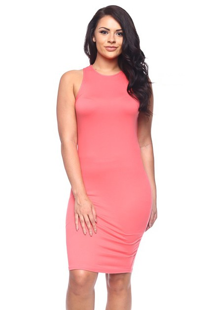 Plus Size Bodycon Dress - orangeshine.com