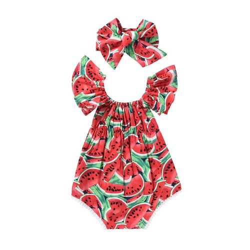 Watermelon Romper and Headband - orangeshine.com