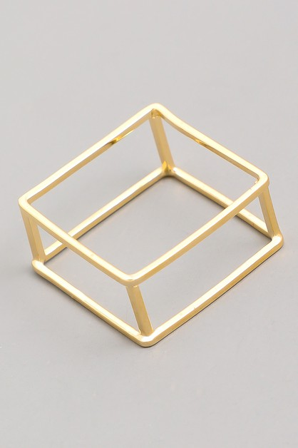 Delicate Square Box Ring - orangeshine.com