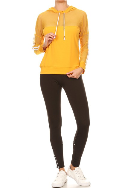 Color jacket and black legging set - orangeshine.com