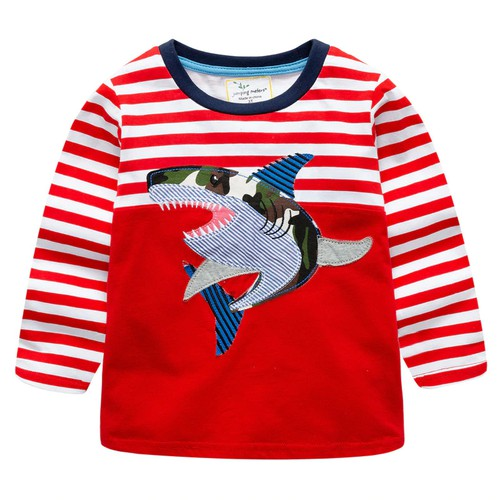 Boys Shark Applique T shirt  - orangeshine.com