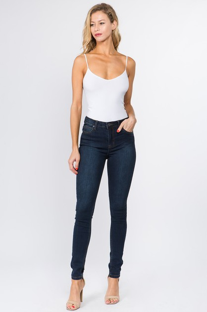HIGH RISE BASIC SKINNY DENIM JEANS - orangeshine.com