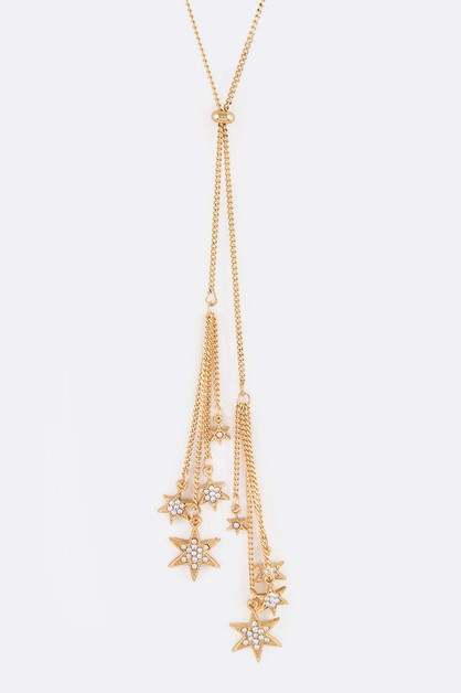 Fringe Stars Adjustable Necklace - orangeshine.com