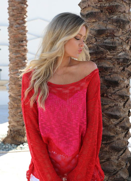 RED HEART SWEATER - orangeshine.com