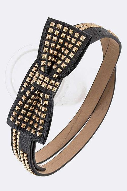 Studded Bow Fashion Belt - orangeshine.com
