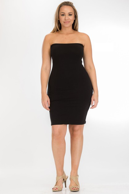 Plus Size Tube Dress - orangeshine.com