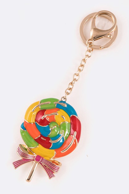 Enamel Lollipop Iconic Key Chain - orangeshine.com