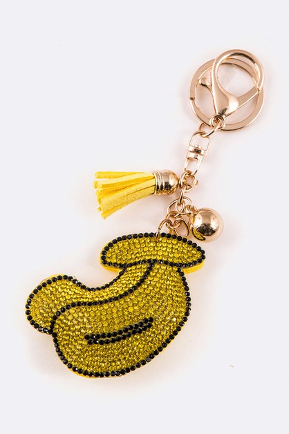 Crystal Banana Key Chain - orangeshine.com