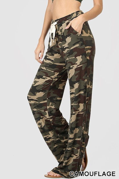 PLUS CAMOUFLAGE LOUNGE PANTS - orangeshine.com