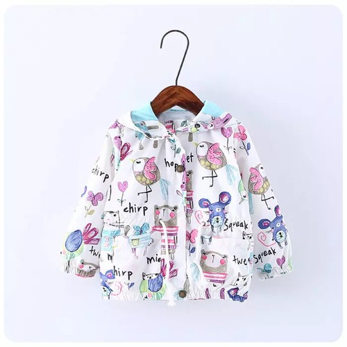 Girls Animal print windbreaker - orangeshine.com