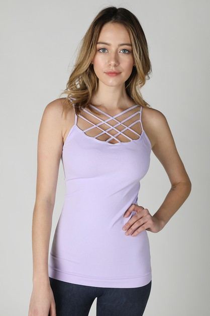 Triple Cross Strap Camisole - orangeshine.com