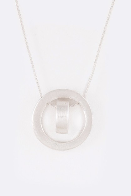 Metal Slider Iconic Pendant Necklace - orangeshine.com