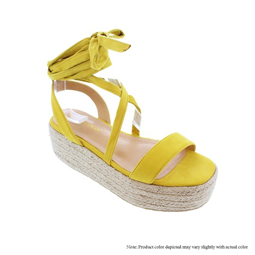 Espadrilles Cross Platform Wedge San - orangeshine.com
