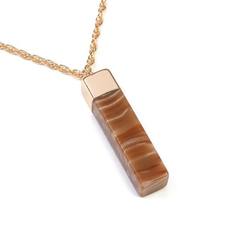 STONE BAR PENDANT NECKLACE - orangeshine.com
