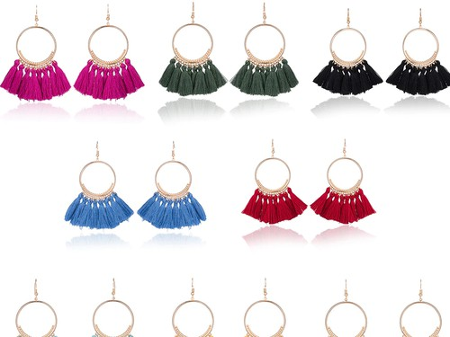Boho tassel fringe earrings - orangeshine.com