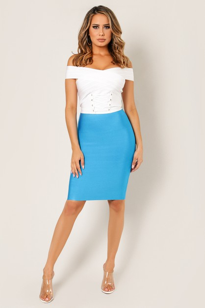 Basic Bandage Pencil Skirt - orangeshine.com