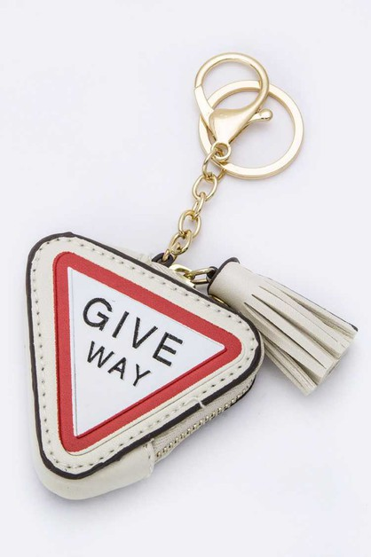 GIVE WAY Coin Purse Key Charm - orangeshine.com