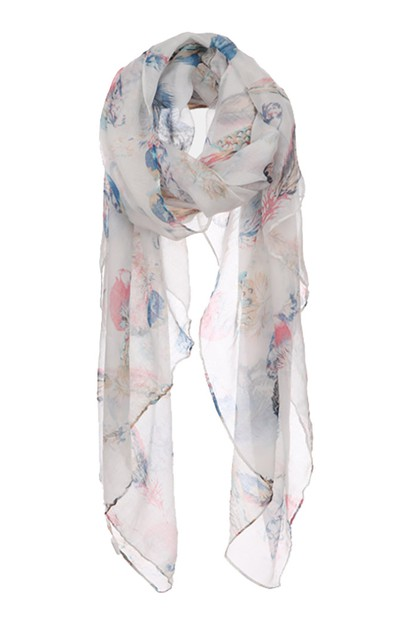 Feather Print Scarf - orangeshine.com
