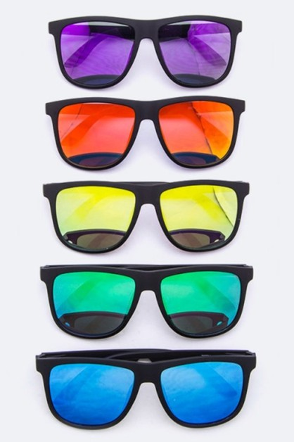Mirror Tinted Wayfarer Sunglasses - orangeshine.com