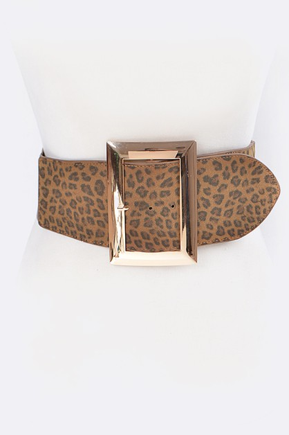 Leopard Printed Square Stretch - orangeshine.com
