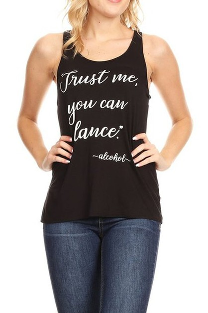 Trust Me You Can Dance  graphic prin - orangeshine.com