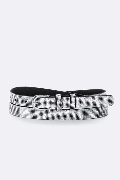 18MM Iconic Rhinestone Buckle Belt - orangeshine.com