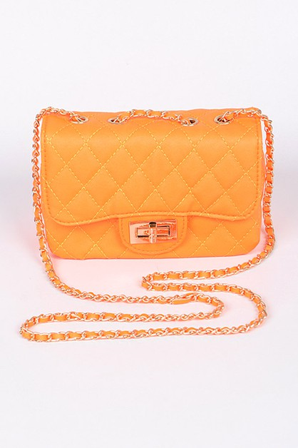 Glamorous Clutch With Chain Details - orangeshine.com